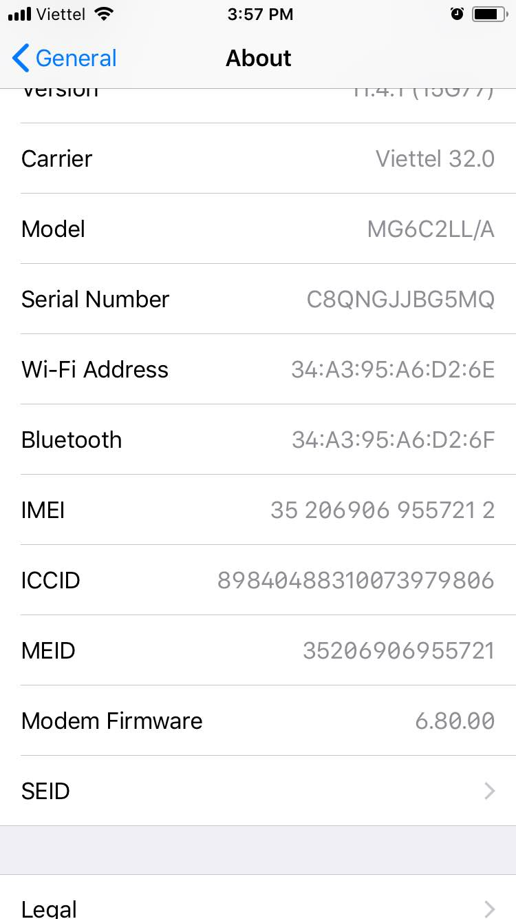 kiem tra imei iphone