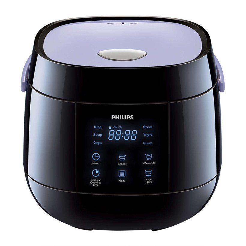 Nồi cơm điện tử Philips HD3060 330W 0.7L (Đen) - Hàng chính hãng