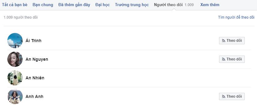hien thi luot theo doi facebook