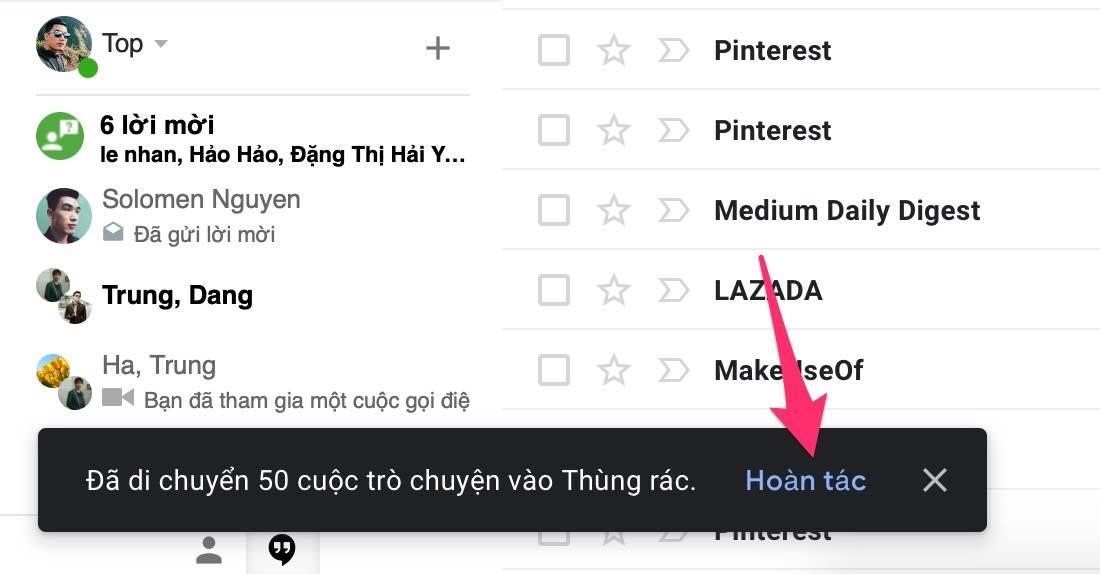 xoa email chua doc
