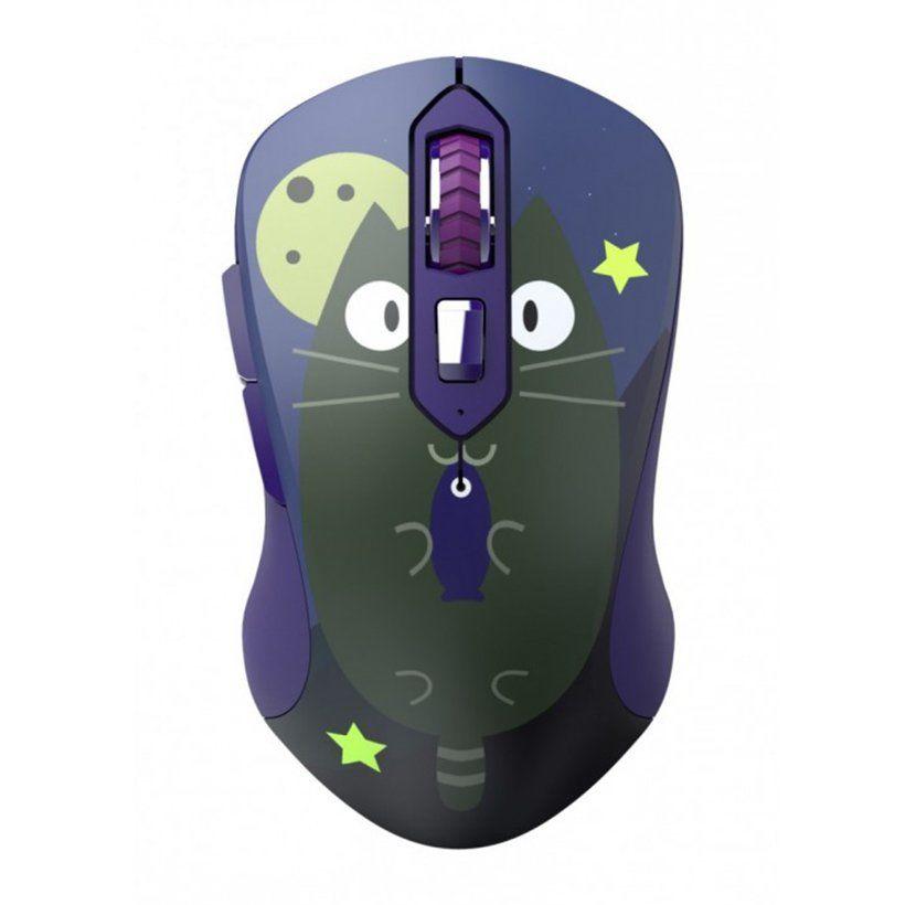 Chuột không dây DareU LM115G Multi-Color Cat + Lót chuột kê tay