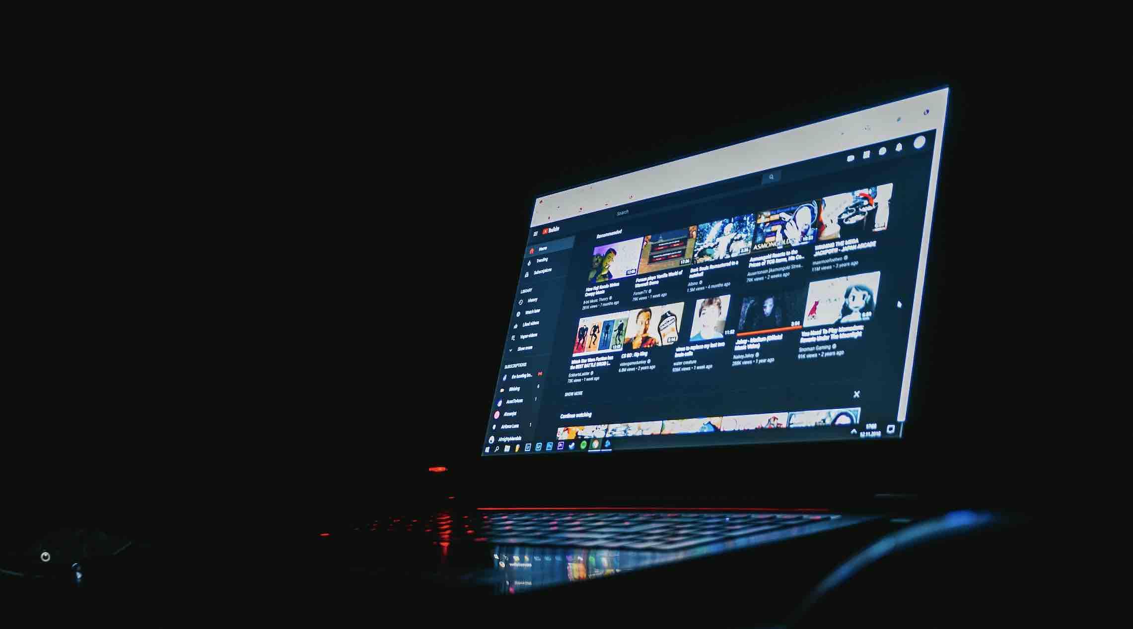 darkmode youtube