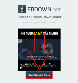 tải video facebook