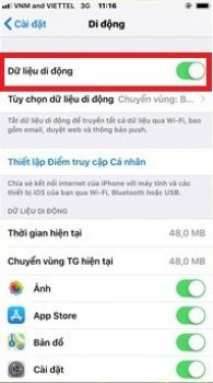 lỗi tin nhắn iMessage trên iOS
