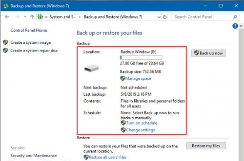 Backup & Restore Windows 10