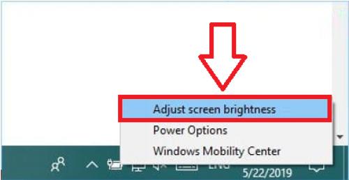 tùy chỉnh độ sáng màn hình Laptop