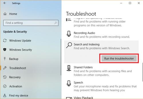 Windows Search trên Windows 10 không hoạt động