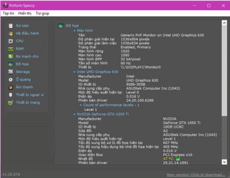 Kiểm tra cấu hình máy tính PC & Laptop