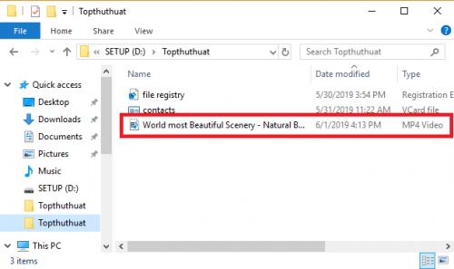 cắt video trên Windows 10
