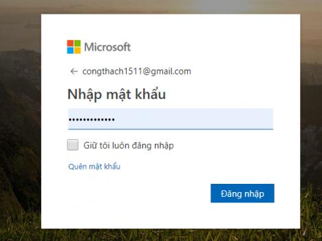 khóa máy tính từ xa bằng tài khoản Microsoft