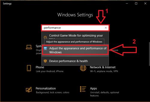 tăng tốc chơi game trên Windows 10