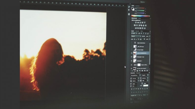 editing photo