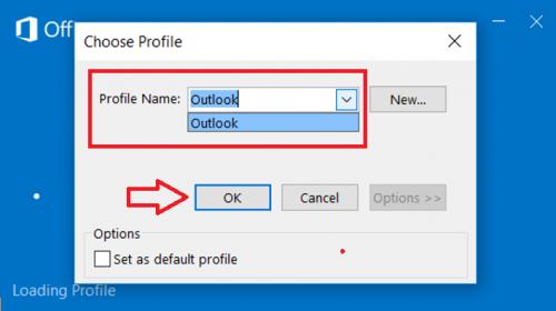 sửa lỗi không vào được Outlook