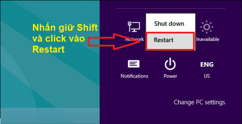 khởi động lại máy tính Windows