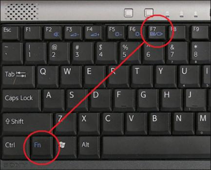 vô hiệu hóa touchpad