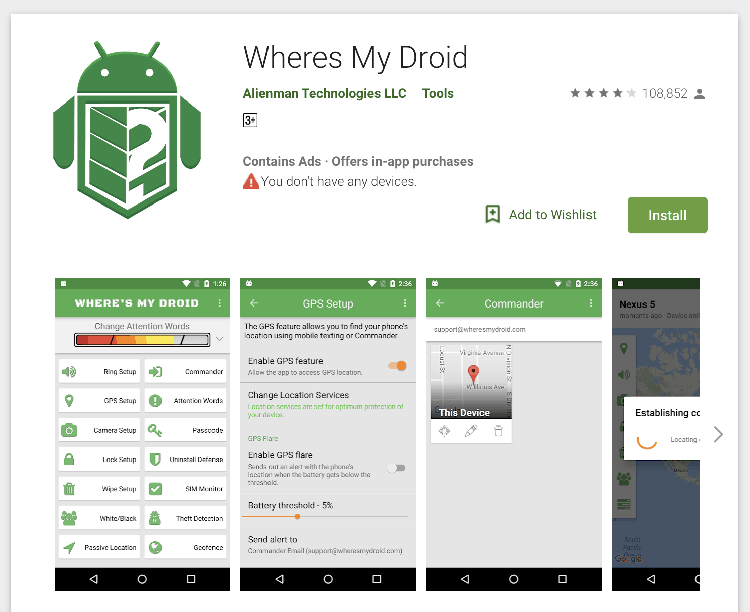 ung dung tracking cho android