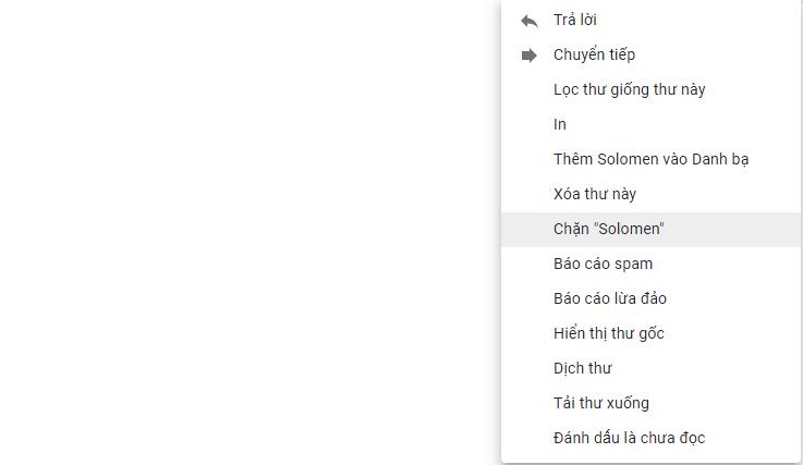 Cách chặn người dùng Gmail