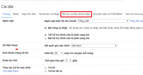 xoa thu rac tren gmail
