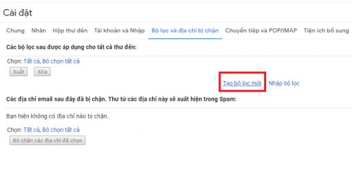 xoa thu rac thu spam gmail tu dong