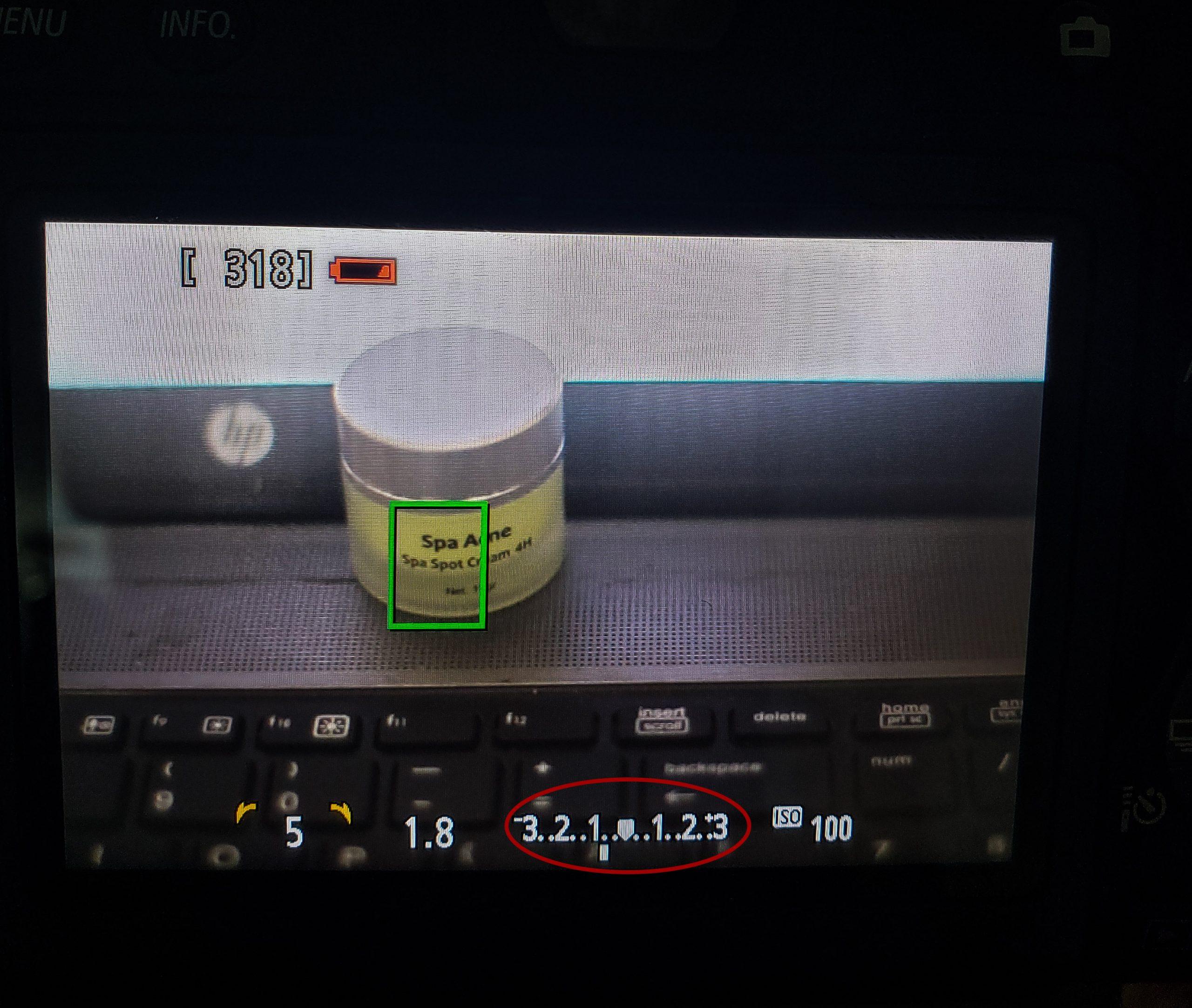 Thanh đo sáng trên màn hình LCD