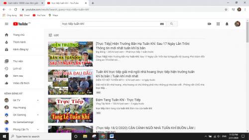 hàng loạt các video về vụ việc Tuấn khỉ trên Youtube