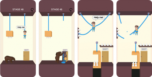 Rescue Cut trò chơi giải đố đáng chơi trên iOS