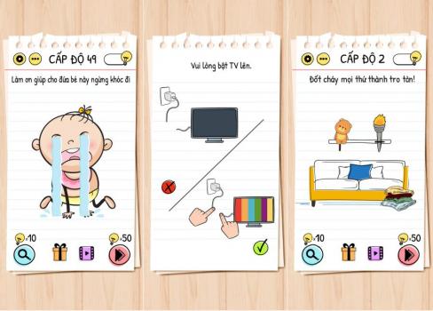 Brain Test đố mẹo hại não đáng chơi trên iOS