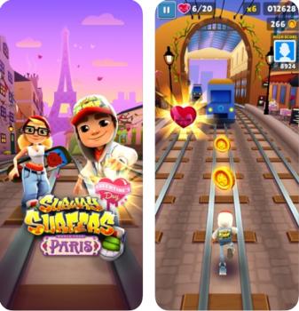 Subway Surfers là một tựa game hành động đáng chơi trên iOS