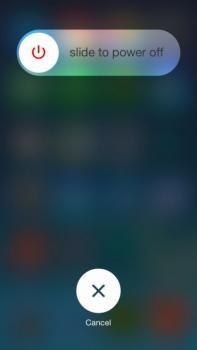 Restart iPhone để sửa lỗi không rung