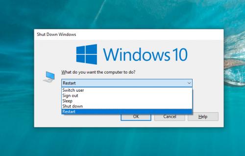 Khởi động lại máy tính win 10