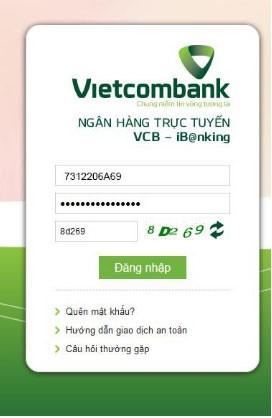 dich vu internet banking ngan hang VCB