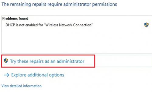Trình sửa lỗi mạng tự động trên Windows