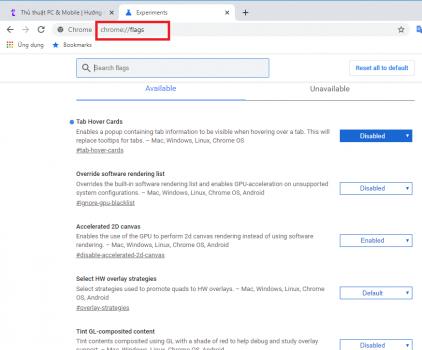 Tắt giao thức Experimental Quic Protocol trên Chrome