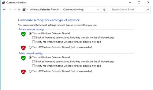 kiểm tra firewall