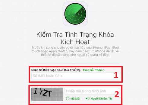 Check iCloud ẩn trên trang chủ Apple