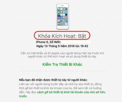 iPhone đang bị dính iCloud ẩn