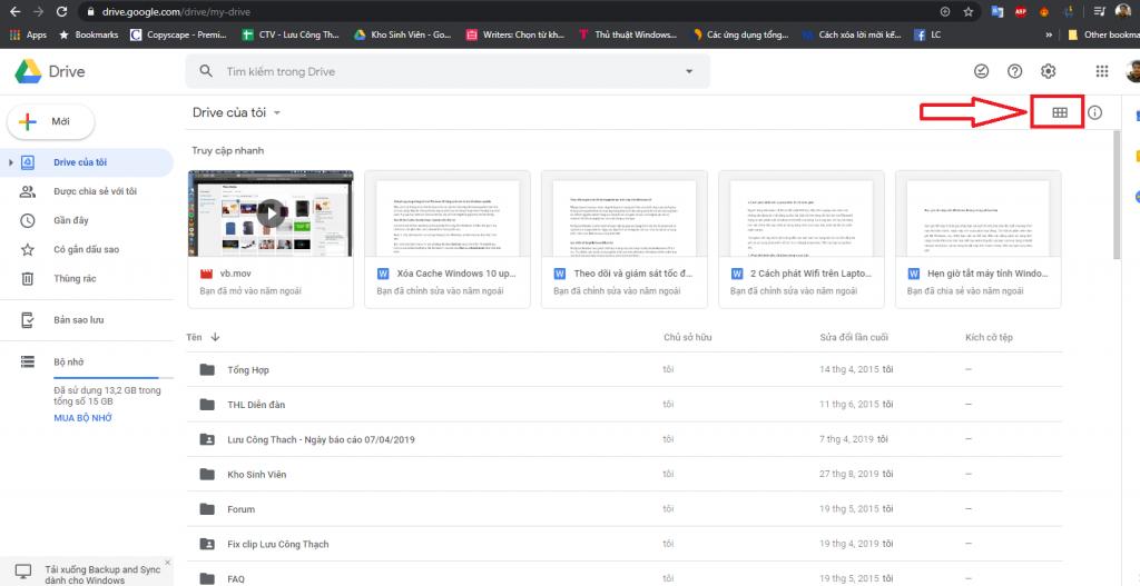 Cách tải toàn bộ nội dung google drive