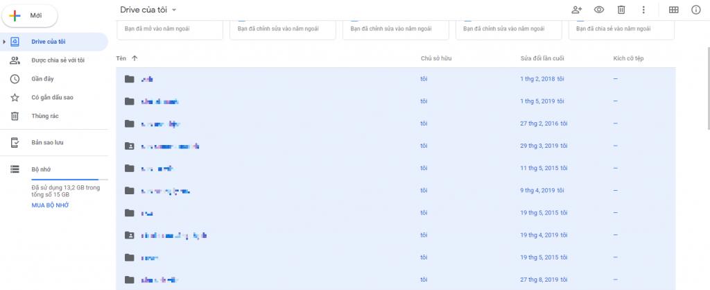 tải dữ liệu trên google drive