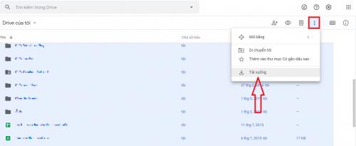 lưu dữ liệu từ google drive về máy tính