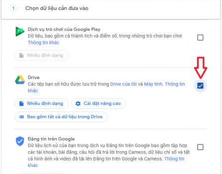 công cụ tải toàn bộ dữ liệu google drive