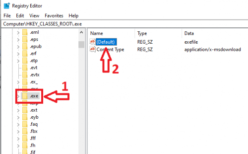 cửa sổ Registry Editor windows