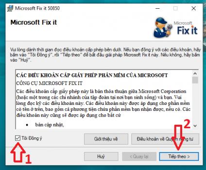 Sử dụng công cụ Fix it