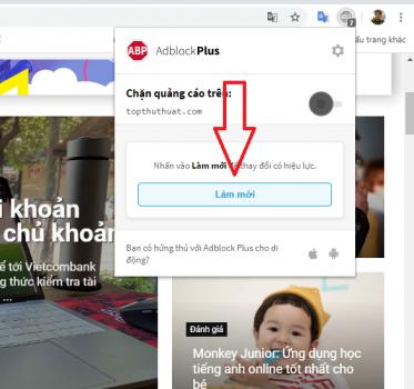 chặn quảng cáo trang web bất kỳ