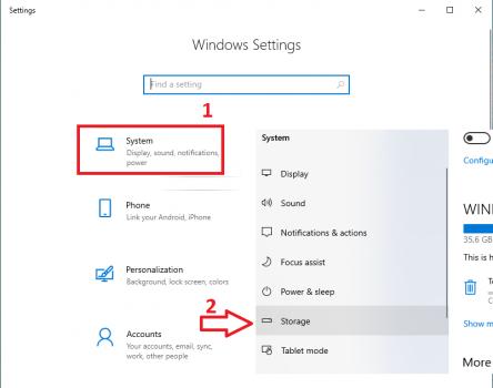 Tự động xóa file trong thùng rác Windows 10