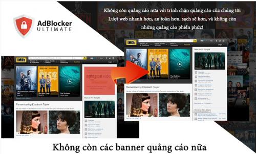 AdBlocker Ultimate tiện ích chặn quảng cáo trên trình duyệt