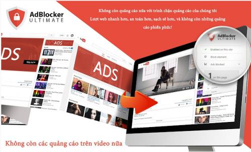 tiện ích chặn quảng cáo AdBlocker Ultimate tăng hiệu suất máy tính