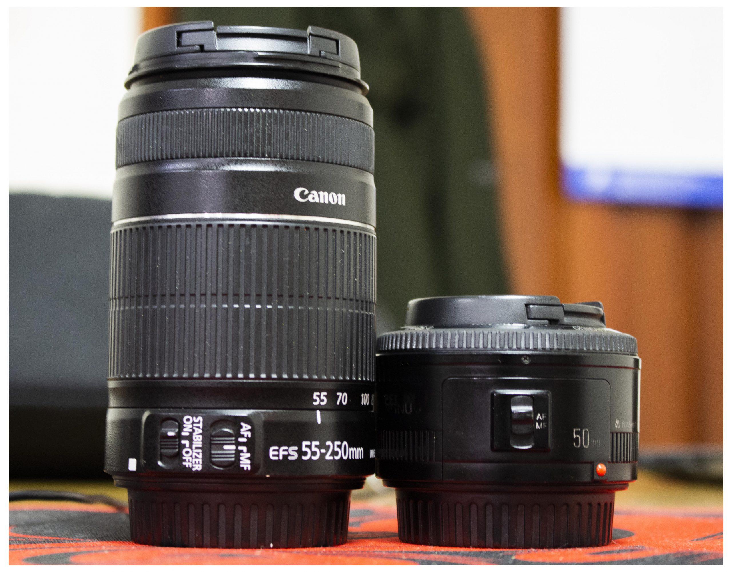 2 chiếc lens của mình: 1 ống fix và 1 ống zoom