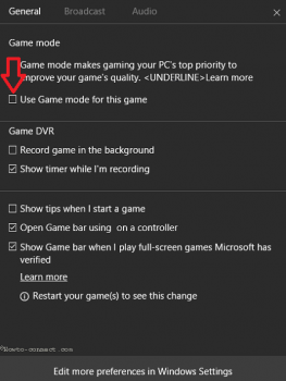 Kích hoạt Game Mode trên Win 10