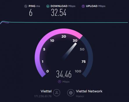 Kiểm tra tốc độ mạng trên máy tính