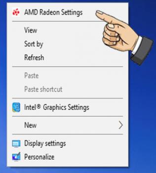Add game vào card AMD
